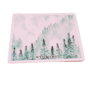 Wyoming Forest Green State Sticker