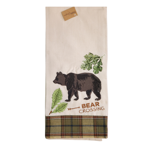 Bear Crossing Embroidered Dishtowels