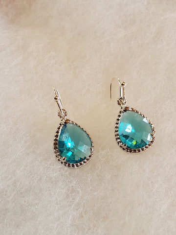 Aquamarine Earrings Silver