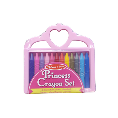 Princess Crayons | 12 Non-Roll Crayons in a Carrying Case