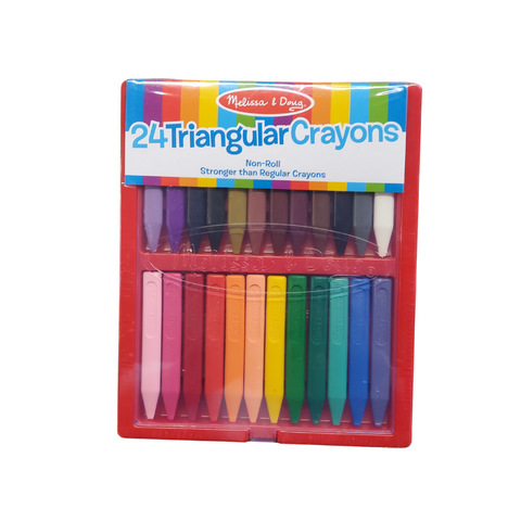 24 Triangular Crayons |  Non-Toxic and Non-Rolling
