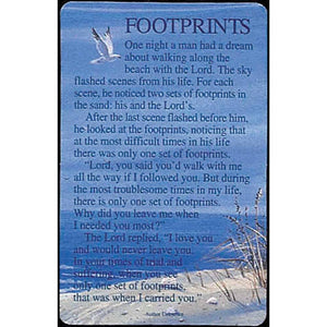 Footprints Pocket Card