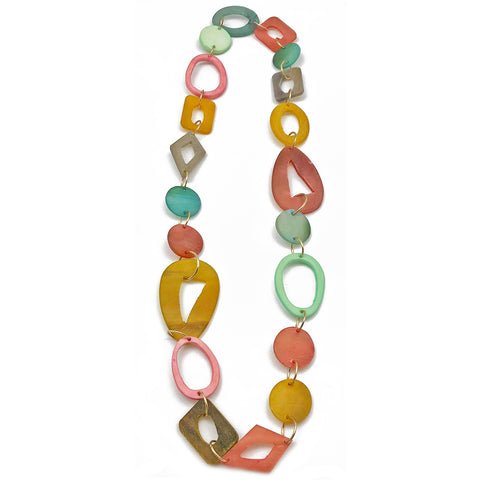Omala Pleasing Pastels Necklace - Natural Cattle Horn