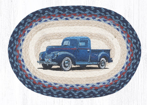 Blue Truck Placemat- All Natural Jute