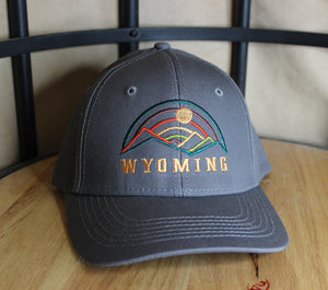 Threaded Mountains Ball Cap- gray