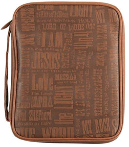 Names of Jesus Bible Cover | Faux Leather
