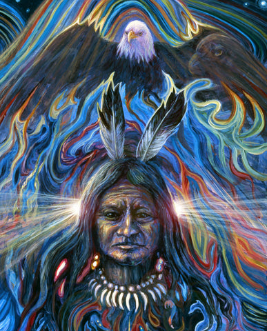 Limited edition fabric panel- Native American Eagle Spirit
