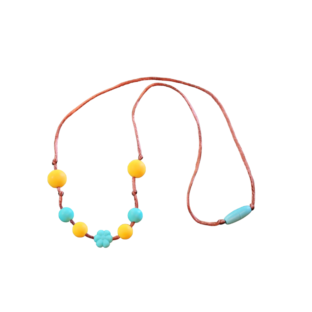 Sunshine and flowers teething necklace