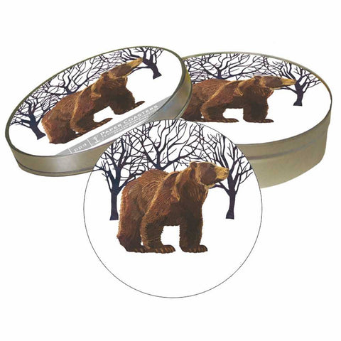 PULPBOARD COASTER SET- WINTER BEAR
