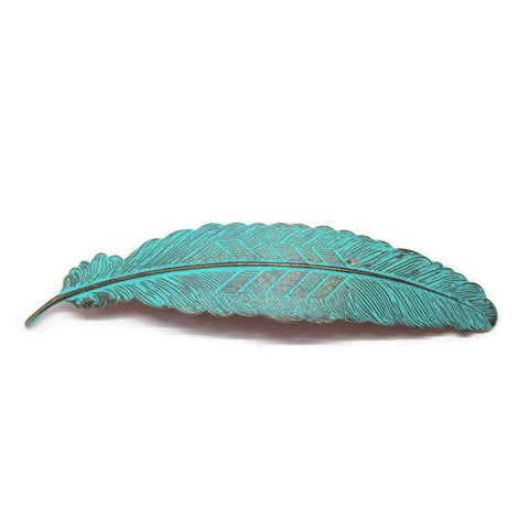 Feather Quill Barrette | Turquoise