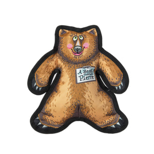 Wild Woodies Dog Toys - A Bear Named Pierre Medium
