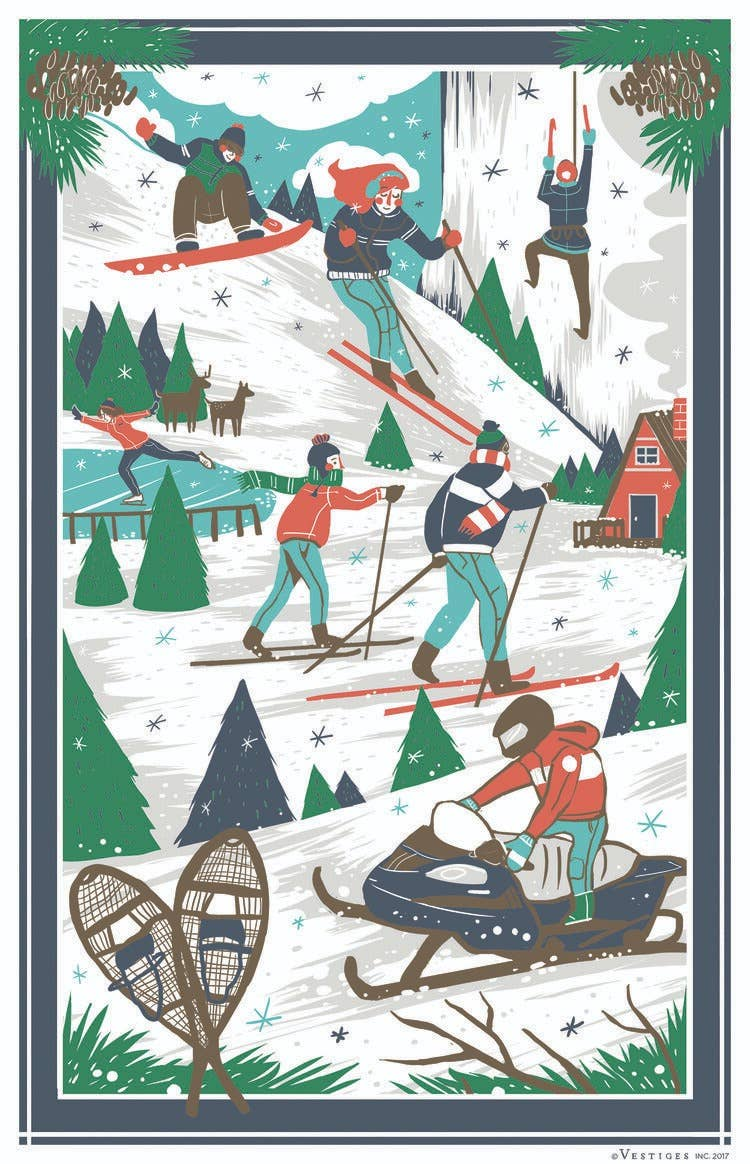 Winter Scenes Towel