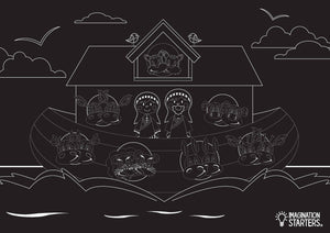 Reusable Chalkboard Placemat: Noah's Ark