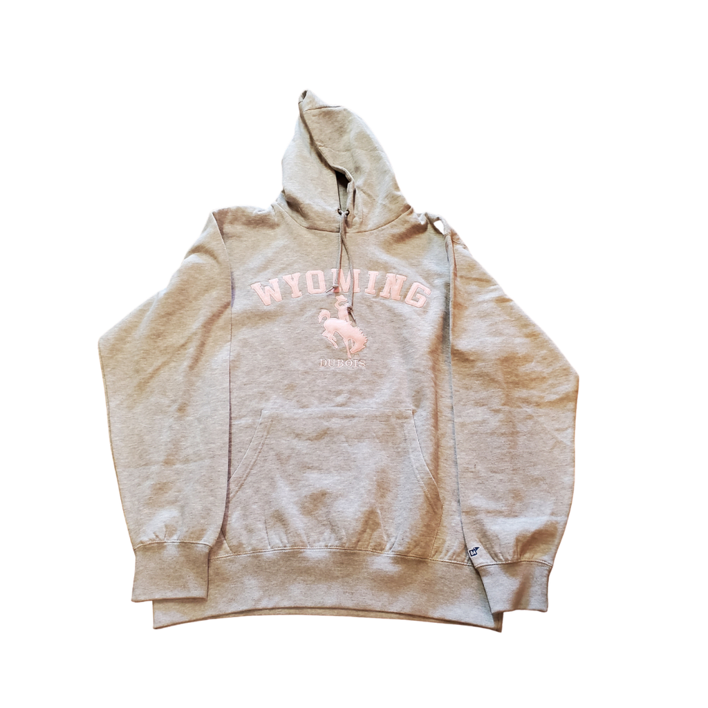 Gray and Pink Wyoming Hoodie