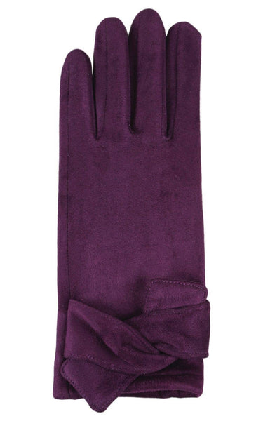 Faux suede gloves for texting
