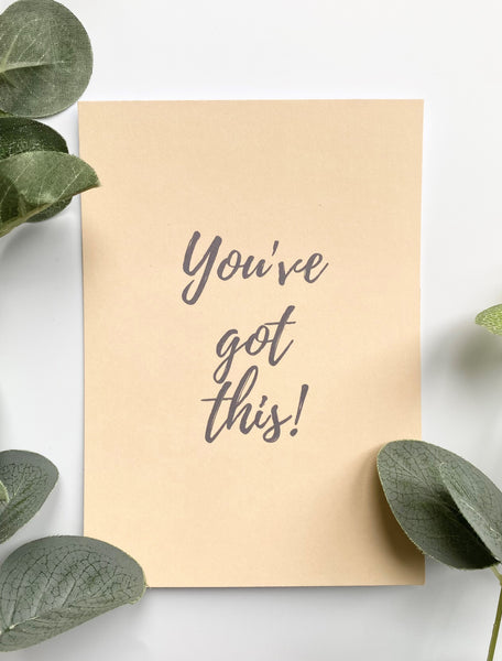 Positive Postcard - You've got this!