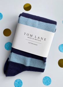 Tom Lane - Striped Cotton Socks