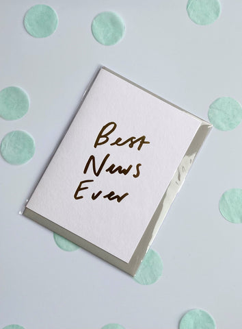 'Best News Ever' A6 Card