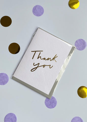 'Thank you' A6 Card