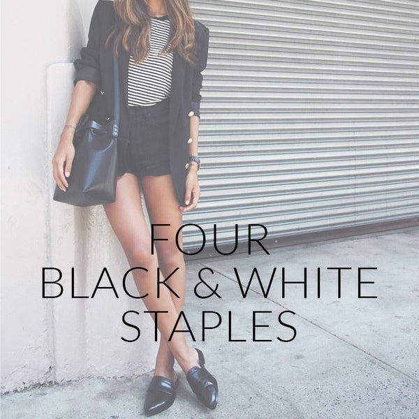 Four Black And White Staples