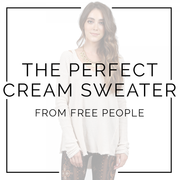 The Perfect Cream Sweater