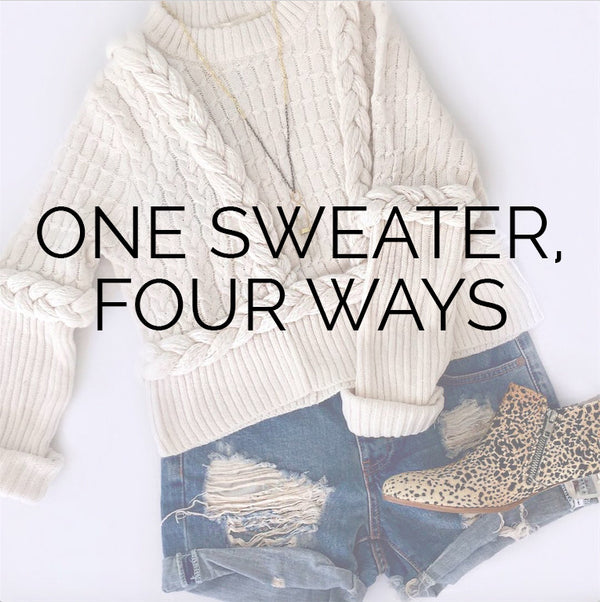 One Sweater, Four Ways