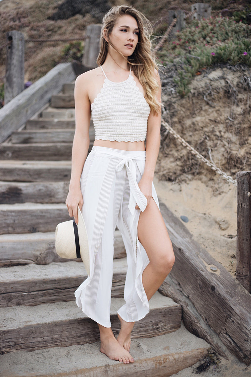 Faithfull the Brand Theory Pants, Crochet Crop Top