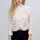 white crochet top, asilio, festival trends 2015
