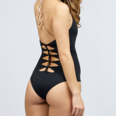 black one piece bathing suit, cali dreamin
