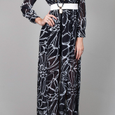 black white maxi, festival dress, elliatt
