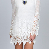 crochet white mini dress, jen's pirate booty