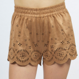 gold suede womens shorts, minkpink, festival summer