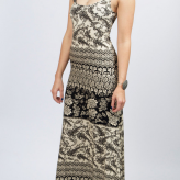 black white maxi dress, novella royale, festival trends
