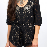 lace black romper, spell gypsy collective