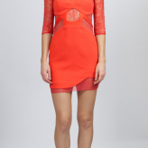 coral lace dress, desert festival trends, three floor