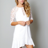 white lace dress, three of something, festival trends