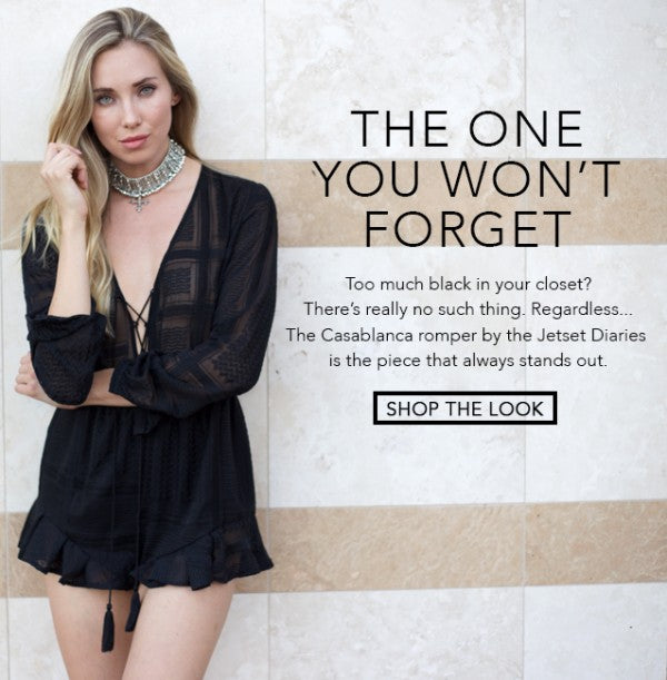 The Jetset Diaries Casablanca Romper Black