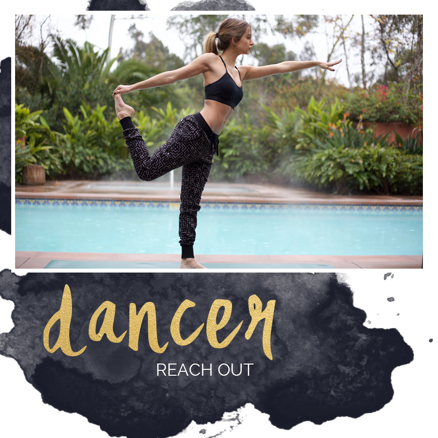 Yoga poses, dancer pose, how to do dancer pose