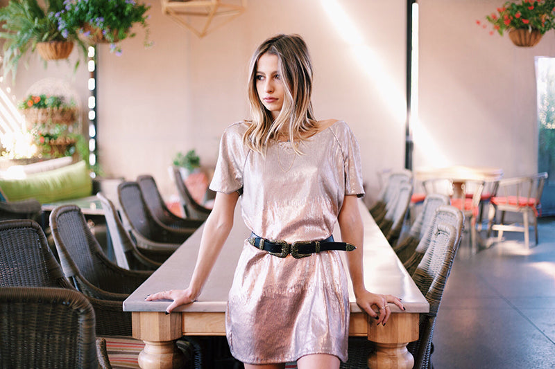 Free People Drenched in Sequins Mini Dress