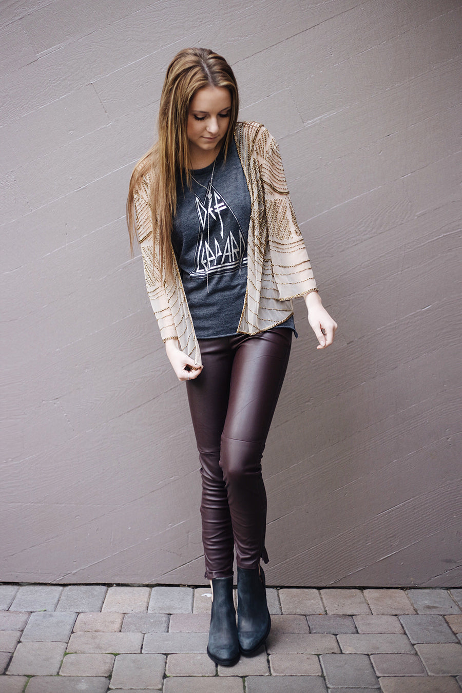 Free People Leather Leggings, RAGA Smoke and Mirrors Jacket