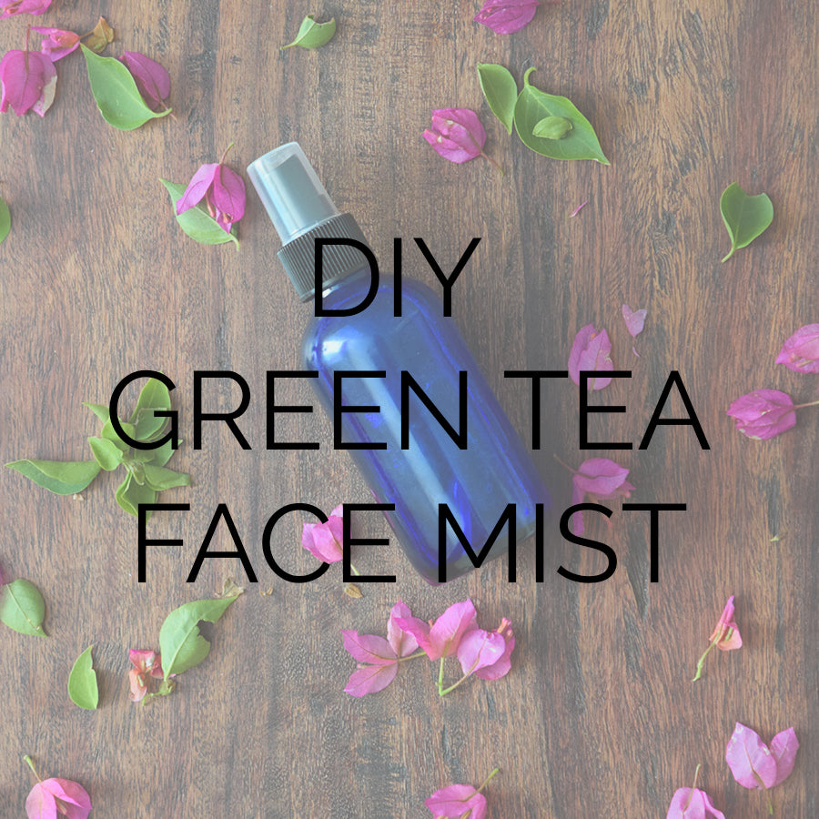 DIY green tea facial spray, face mist