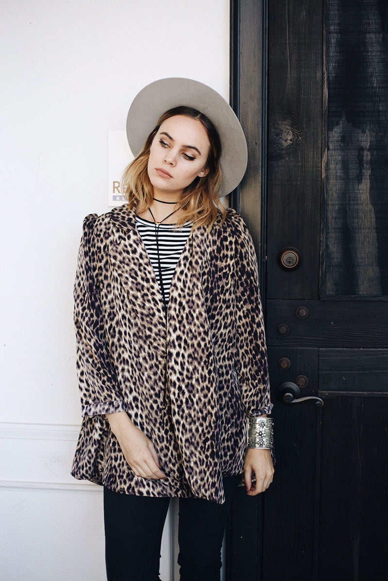 Junim Leopard Swing Coat, Janessa Leone Hat