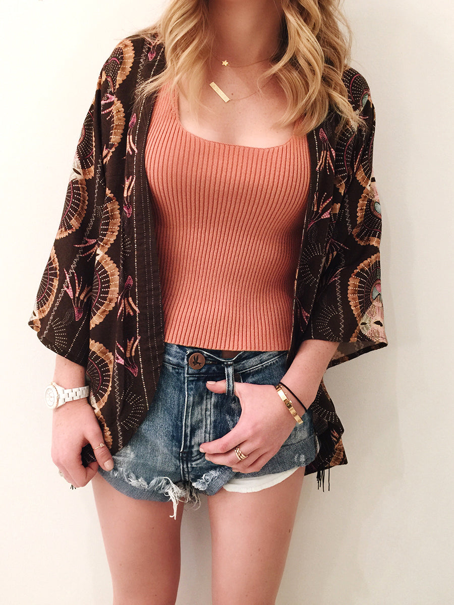 Cleobella Olivia Kimono, Free People Tank, One Teaspoon Cobaine Bandits
