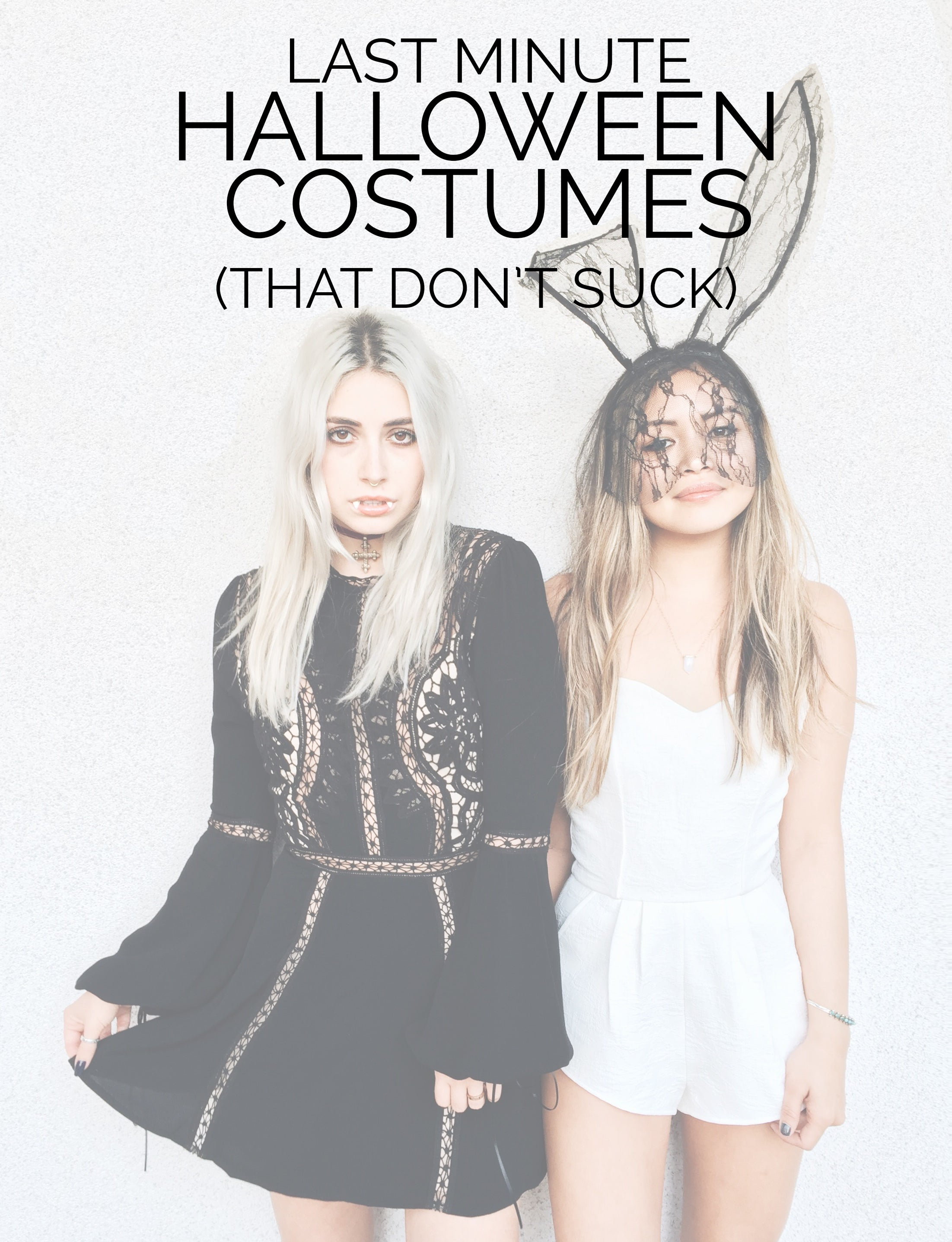 Last minute Halloween costumes that don't suck