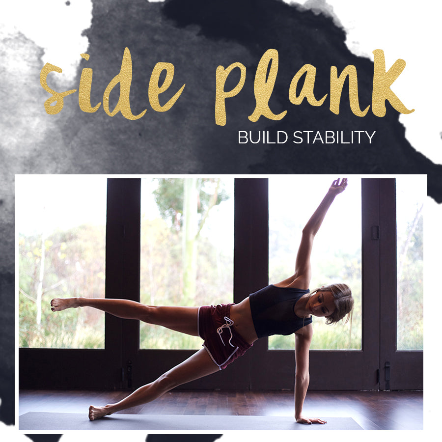 Side plank, yoga, obliques exercise