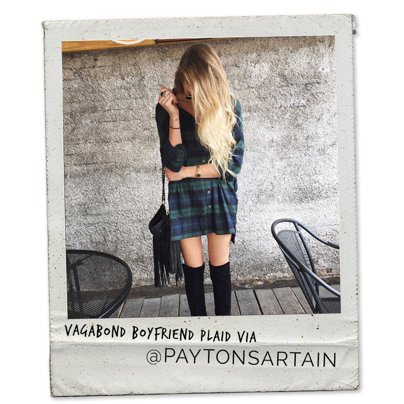 Payton Sartain, Hustle and Halycon, Payton Sartain, Vagabond Boyfriend Plaid