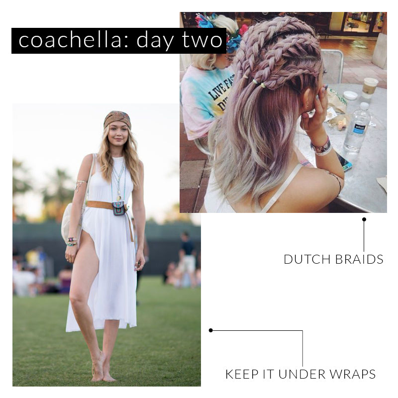 Coachella Hairstyles, Gigi Hadid Coachella Style, Music Festival Fashion, Dutch Braids, Cornrows, Lavender Hair