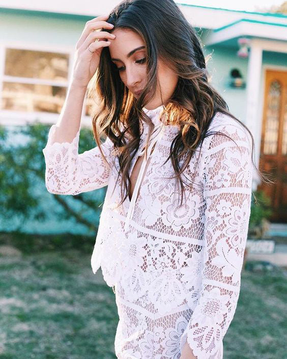 for love and lemons white lace outfit