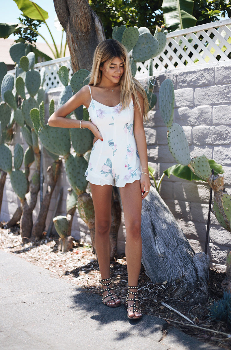 MINKPINK Woratah Playsuit, Floral Romper, Fourth of July Outfit Idea
