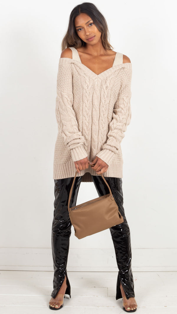Vela Knit Sweater - Sand Stone